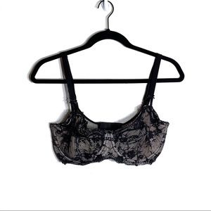 Victorias Secret Black Lace Bra Push Up no Padding